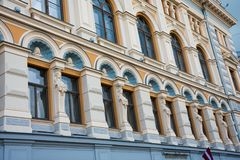 Art Nouveau District Jugendstil. In Riga on a sunny summer day, Latvia stock photography