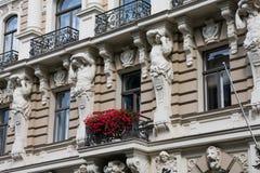 Art Nouveau District Jugendstil in Riga stock fotografie