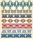 Art nouveau edge Stock Image