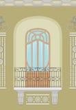 Art Nouveau - façade sans joint Image stock