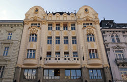 Art Nouveau facade of a bank building, Bratislava Stock Image