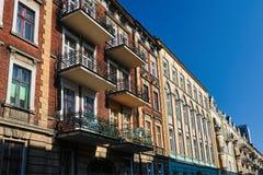 Art Nouveau facade of the buildings royalty free stock photos