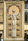Art Nouveau facade decoration Stock Image