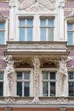 Art Nouveau facade decoration in Riga Stock Photos