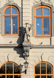 Art Nouveau facade decoration in Riga Stock Photography