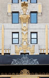 Art Nouveau Facade in New York City Stock Photography