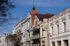 Art-Nouveau facade in Tbilisi Stock Images
