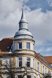 Art Nouveau facade and turret of the building. In Poznan Stock Photography