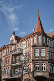 Art Nouveau facade and turret of the building. In Poznan Royalty Free Stock Image
