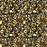 Art Nouveau Floral Seamless Background Imágenes de archivo libres de regalías