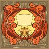 Art nouveau frame Royalty Free Stock Image