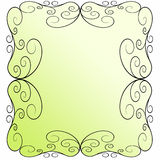 Art nouveau frame. Secession frame on green and white background Stock Images