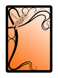 Art nouveau frame. Abstract frame stylized on secession Royalty Free Stock Images