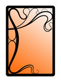 Art nouveau frame. Abstract frame stylized on secession Stock Photos