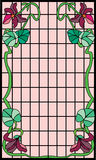 Art Nouveau Frame. Old-style Art Nouveau stained glass frame Vector Illustration