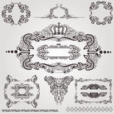 Art nouveau frame label element Royalty Free Stock Photography