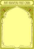 Art Nouveau Frame with space for text Royalty Free Stock Photo