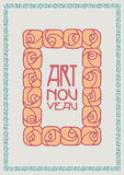 Art Nouveau frame stock illustration