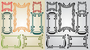 Art nouveau frames vector illustration
