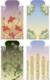 Art Nouveau frames Royalty Free Stock Image