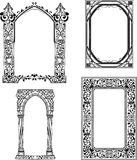 Art Nouveau frames Stock Photo