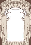Art nouveau frames. Stock Photo