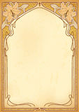 Art nouveau frames with space for text. Stock Image