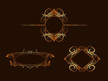 Art nouveau frames. Which can easily use for logos banners, adverts etc Royalty Free Stock Photography
