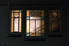 art nouveau french word jugendstil in german windows at november Royalty Free Stock Photos