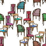 Art nouveau furniture pattern Stock Photo
