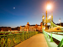 Art Nouveau historical building of Gellert spa on the Danube riverbank in Budapest, Hungary Stock Image