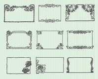 Art Nouveau Horizontal Frame Set Royalty Free Stock Photo