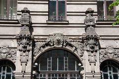 Art Nouveau house Royalty Free Stock Images