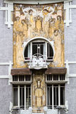 Art nouveau house front in Brussels. Art nouveau house front of the famous art nouveau architect Victor Horta, in Brussels, Belgium Royalty Free Stock Images
