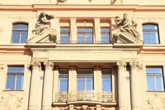 Art Nouveau house in Prague Stock Images