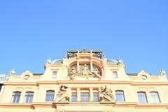 Art Nouveau house in Prague Stock Photo