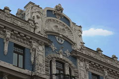 Art Nouveau, Jugenstil building in Riga Latvia Royalty Free Stock Photos