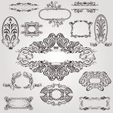 Art nouveau label old banner element Royalty Free Stock Image