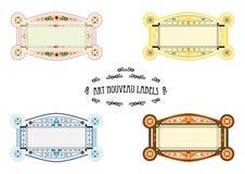 Art Nouveau labels Stock Image