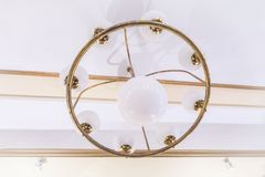 Art Nouveau Lamp. Hanging from the ceiling royalty free stock image