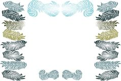 Art Nouveau leaves frame Royalty Free Stock Photos
