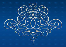 Art-nouveau motives ornament. Complex ornament with modern style luxorious motives. Can be disassembled to elements. Symmetric Stock Images