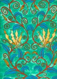 Art nouveau painting. Handpainted by me - high res scan Stock Photography