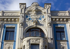 Art Nouveau Palace in Riga Royalty Free Stock Photo