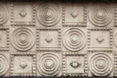 Art Nouveau-patroon in Hradec Kralove, Tsjechische Republiek stock afbeeldingen