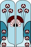 Art nouveau pattern Stock Photo