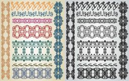 Art nouveau pattern collection Royalty Free Stock Images