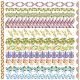 Art nouveau pattern edge element Royalty Free Stock Photography
