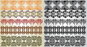 Art nouveau pattern element Royalty Free Stock Images