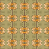 Art nouveau pattern with flowers Stock Images